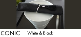 CONIC WHITE & BLACK バナー