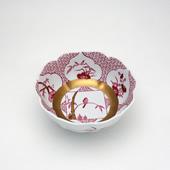 小鉢・JA三方ガラミ紋・ワインレッド