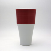 段付フリーカップ・ワインレッド