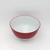 段付飯碗(茶碗)・ワインレッド