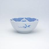 小鉢・JB三方ガラミ紋・ブルー&プラチナ