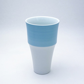 段付フリーカップ・パールブルー