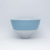 段付飯碗(茶碗)・パールブルー