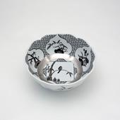 小鉢・JS三方ガラミ紋・プラチナ
