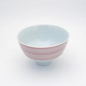 飯碗(茶碗)・呉須千段・赤
