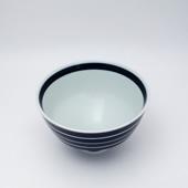 段付飯碗(茶碗)・独楽筋 呉須