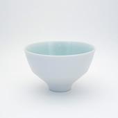 段付飯碗(茶碗)・(内)青白磁(外)刷毛巻
