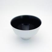 飯碗(茶碗)・(内)墨呉須(外)刷毛巻